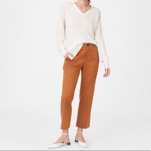 Club Monaco Fahye Wide Leg Pant in Burnt Sienna